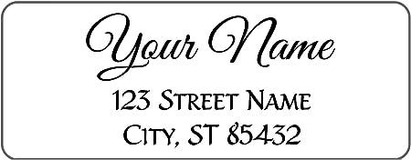 30 Custom Angel /& Moon Stamp Art Personalized Address Labels