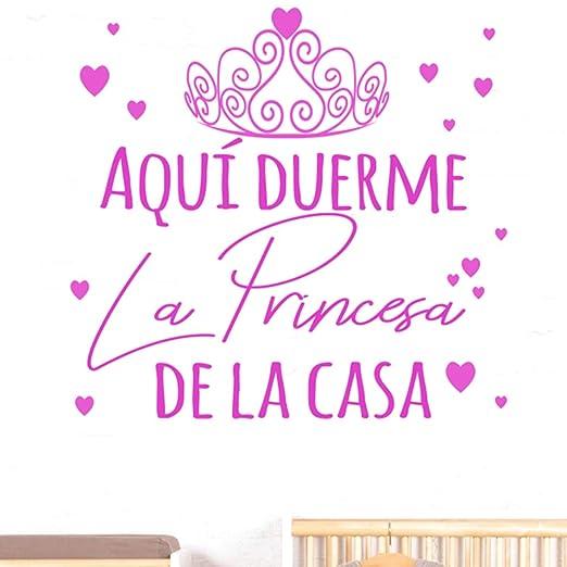 Docliick Frase Vinilo Habitación Infantilaquí Duerme La Princesa De La Casa Vinilos Decorativos Vinilo Frases Motivadoras Para Paredpegatina De