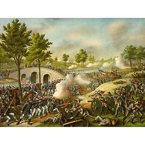 Wee Blue Coo War American Civil Battle Antietam USA Unframed Wall Art Print Poster Home Decor Premium - Civil Paintings War