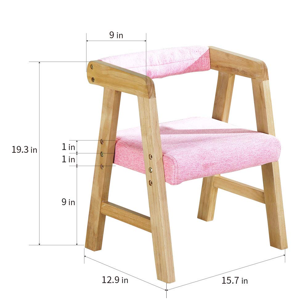 Admirable Youhi Kids Chair Wooden Chair For Toddlers Height Adjustable Chair Comfortable Sponge Seat For Daycare Preschool Childrens Room Pink Theyellowbook Wood Chair Design Ideas Theyellowbookinfo