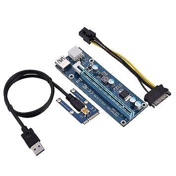 fosa PCI-E de 1x a 16x Riser Adaptador con Molex para Cable ...