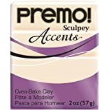 Polyform Premo Accents Sculpey Polymer Clay, 2-Ounce, Translucent