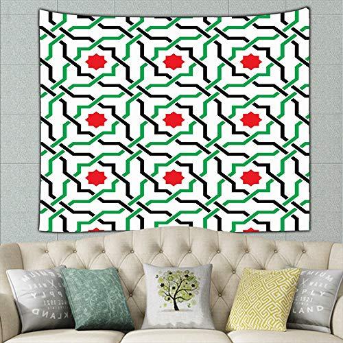(zhufeifan Geometric Arabic Abstract UAE Abstract UAE Tapestry Bohemian Tapestry Hippie Tapestry Bedroom Living Room Dorm Art Wall Hanging 50ʺ × 60ʺ)