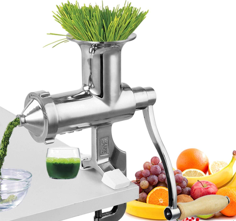 Acciaio Inossidabile JWD HOME Spremiagrumi Manuale Wheatgrass Macchina per Estrattore di Erba Tritata per Frutta E Verdura