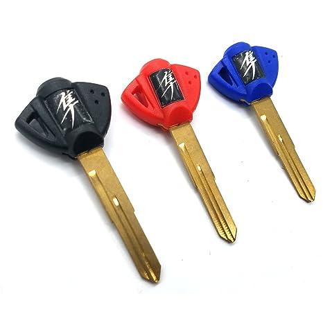 3 x cuchillas de motocicleta (3 botones en blanco llavero ...