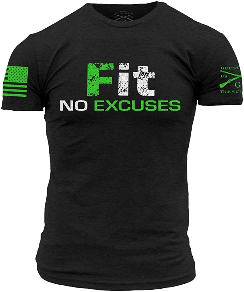 Grunt Style Fitness - Fit, No Excuses Men's T-Shirt