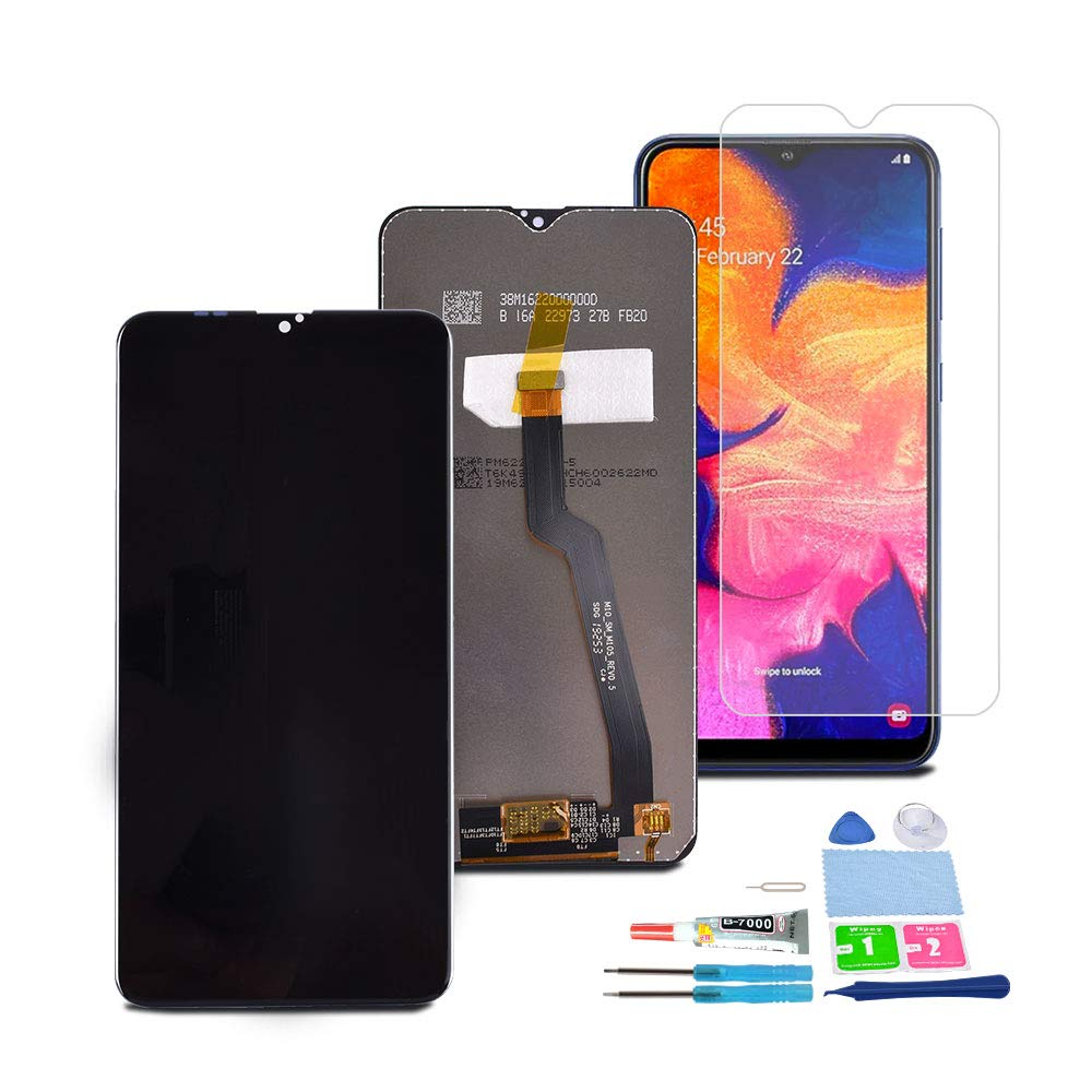 XR MARKET Compatible Samsung Galaxy A10 Screen Replacement, LCD Display Touch Digitizer Assembly Part for SM-A105F/DS A105FN/DS A105G/DS A105M/DS with Glue + Screen Protector(Black NO Frame)