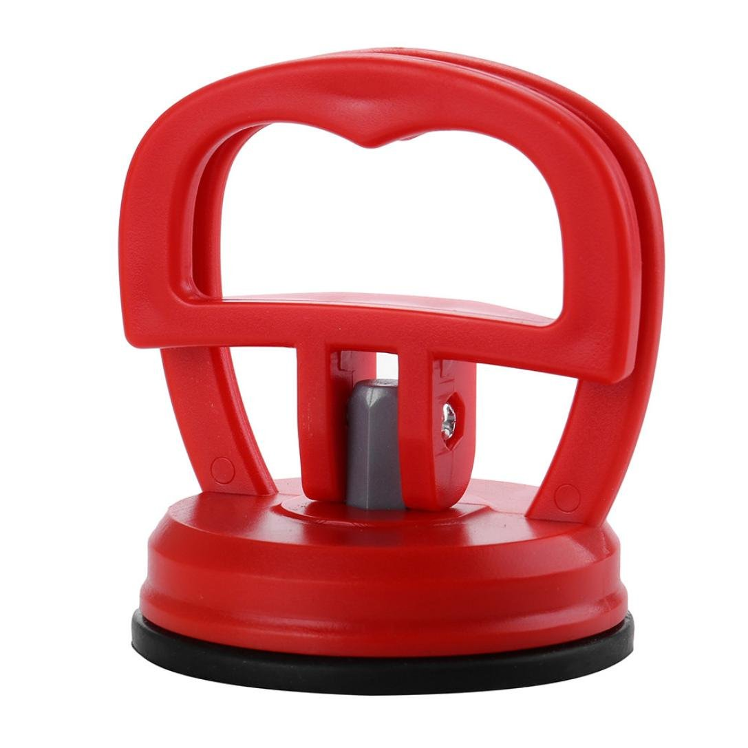 Glumes Mini Car Pops a Dent Remover Bridge Dent Puller Suction Cup, Paintless Dent Repair Puller with for Auto Body Motorcycle Refrigerator Washing Machine (Red) by Glumes (Image #1)