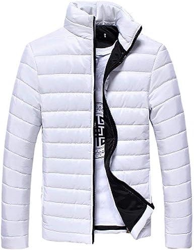 Hombres Chaquetas de Invierno Parka Cálido Outwear Marca Slim para Hombre Abrigos Chaqueta de algodón Cazadora Informal: Amazon.es: Ropa y accesorios