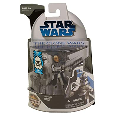 Captain Rex with Firing Missile Launcher - Star Wars: The Clone Wars: Toys & Games