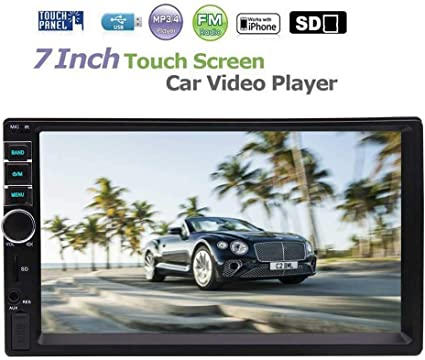 7/'/' HD Touch Screen Bluetooth Car Stereo Radio Player 2 DIN Handsfree USB//AUX//TF