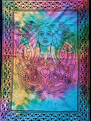 Indian Craft Castle ICC Angel Queen Girl Poster Hippie Decor Tapestry Wall Hanging Dorm Collage Color Me Weed Leaf Bohemian Art Psychedelic Small Hippie Rasta Ganja 30x40 inches ()