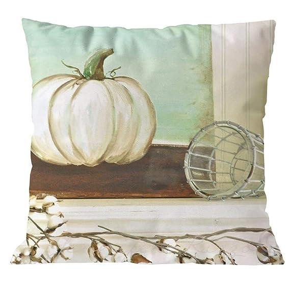 Amazon.com: Fundas de almohada decorativas de calabaza ...