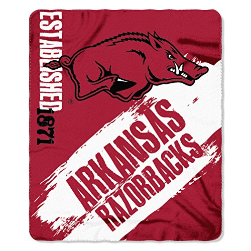 NCAA Arkansas Razorbacks Painted Printed Fleece Throw Blanket, 50