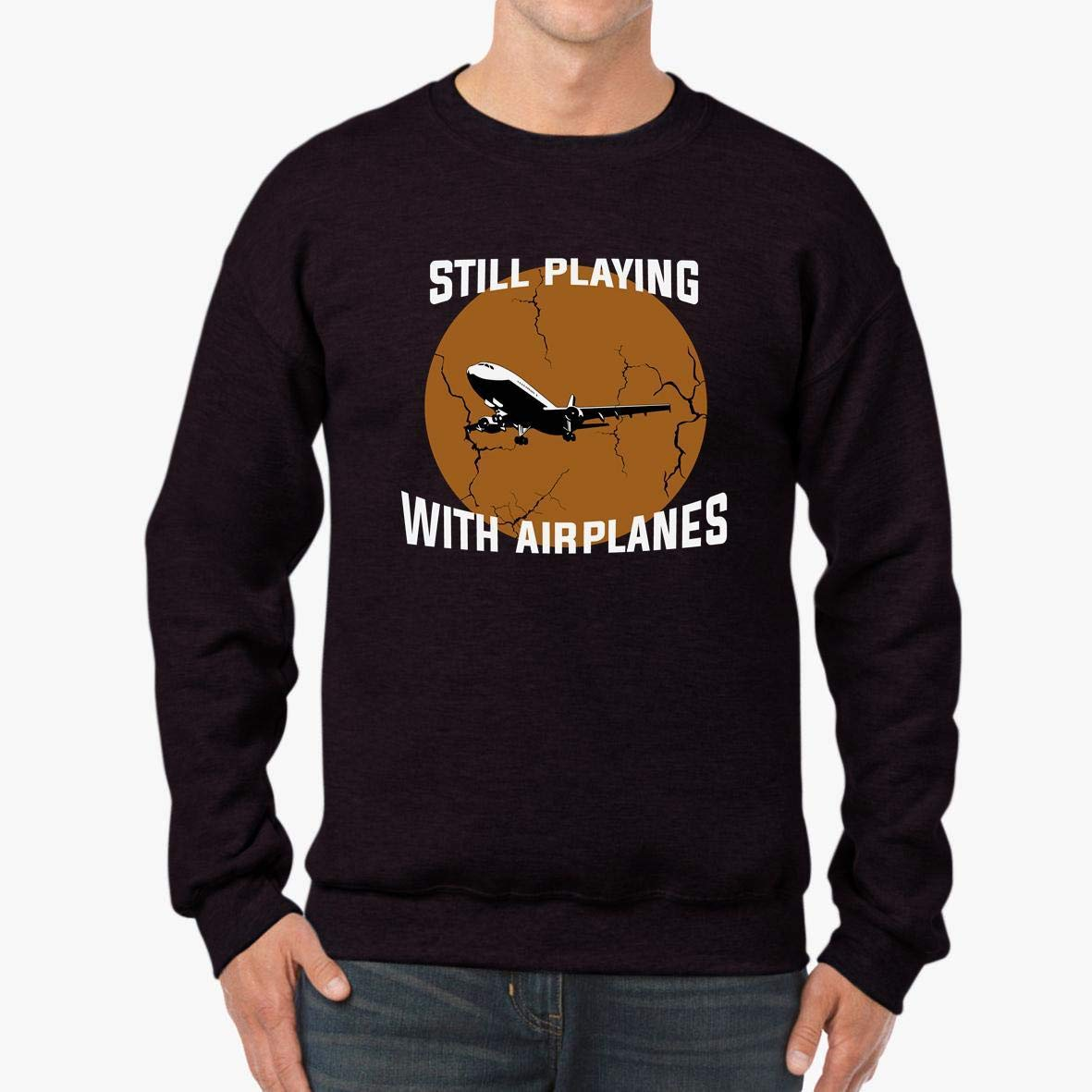 Still Playing with Airplanes Pilots/_ Vintage Graphic Unisex Sweatshirt tee