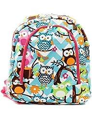 Owl Chevron Print Backpack Hp