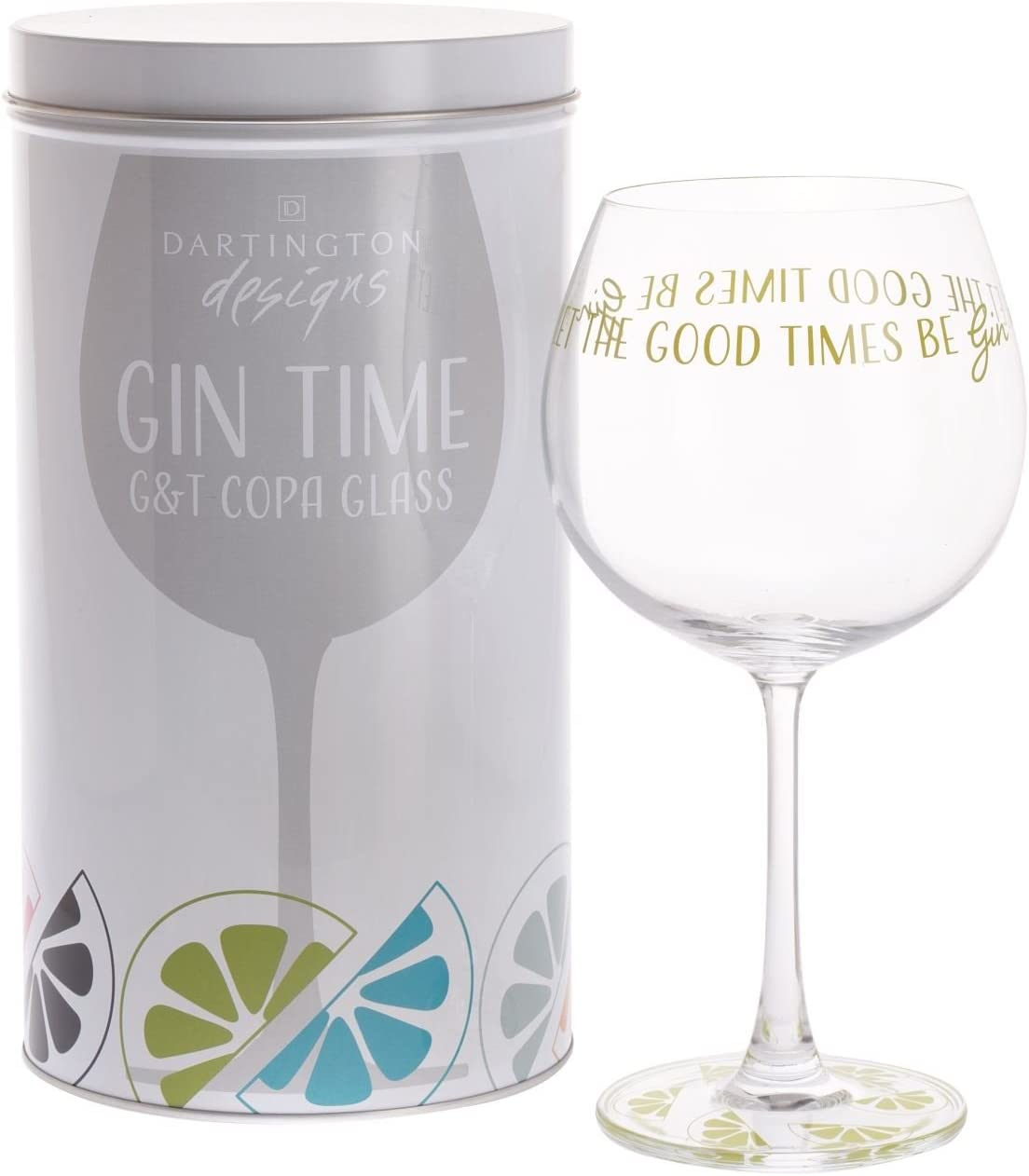 Dartington Crystal Gin Time Bicchiere per palloncino Let the good time be gin