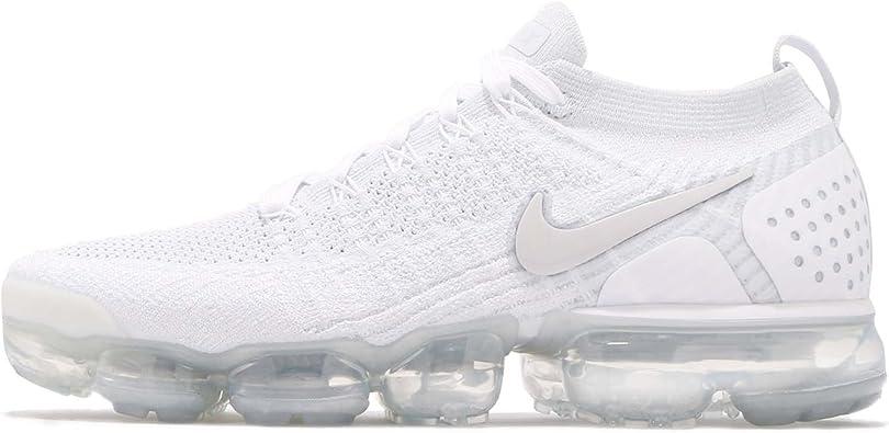 Desesperado Antagonista horizonte  Nike Air Vapormax Flyknit 2, Zapatillas de Gimnasia para Hombre, Blanco  (White/White/Vast Grey/Football Grey 105), 40 EU: Amazon.es: Zapatos y  complementos