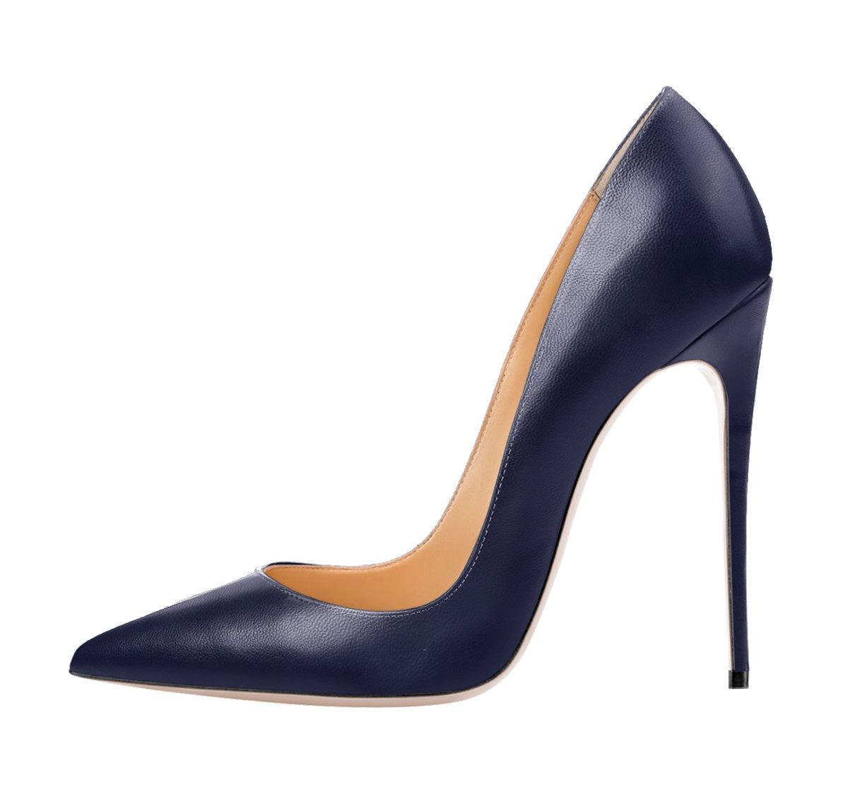 Queen Van - Zapatos de vestir de Piel Vuelta para mujer 42 EU/27 cm|Deep Blue