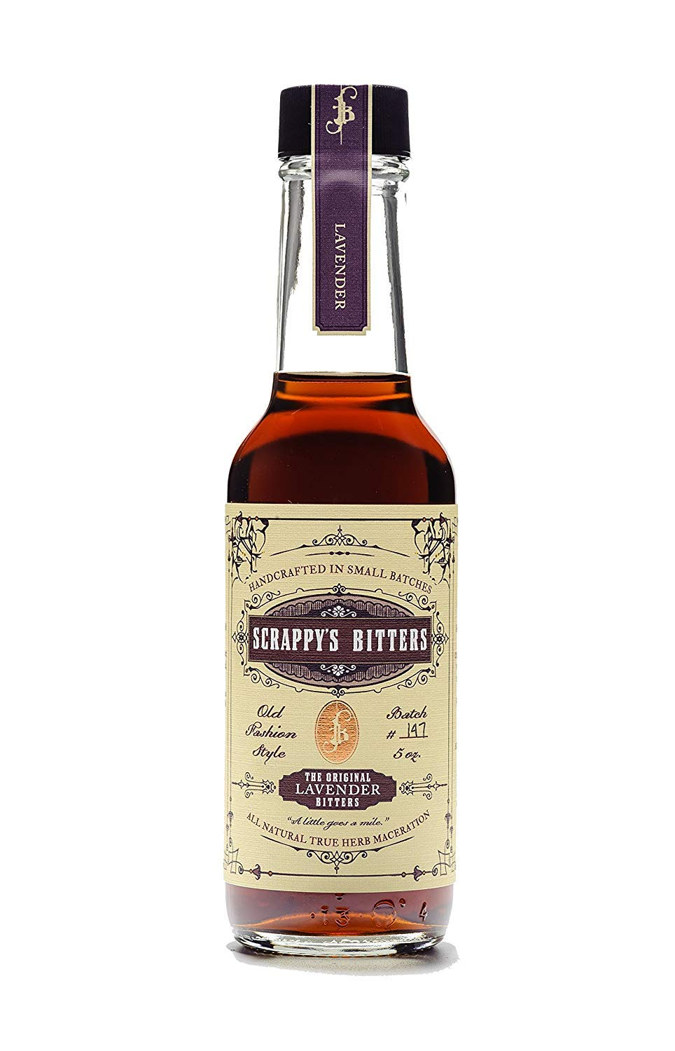 Scrappy's Bitters - Lavender, 5 Ounces - Organic Ingredients, Finest Herbs and Zests, No Extracts, Artificial Flavors, Chemicals or Dyes. Made in the USA