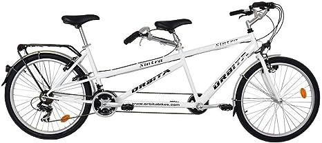 Bicicleta tándem VTC Orbita Sintra blanco: Amazon.es: Deportes y ...