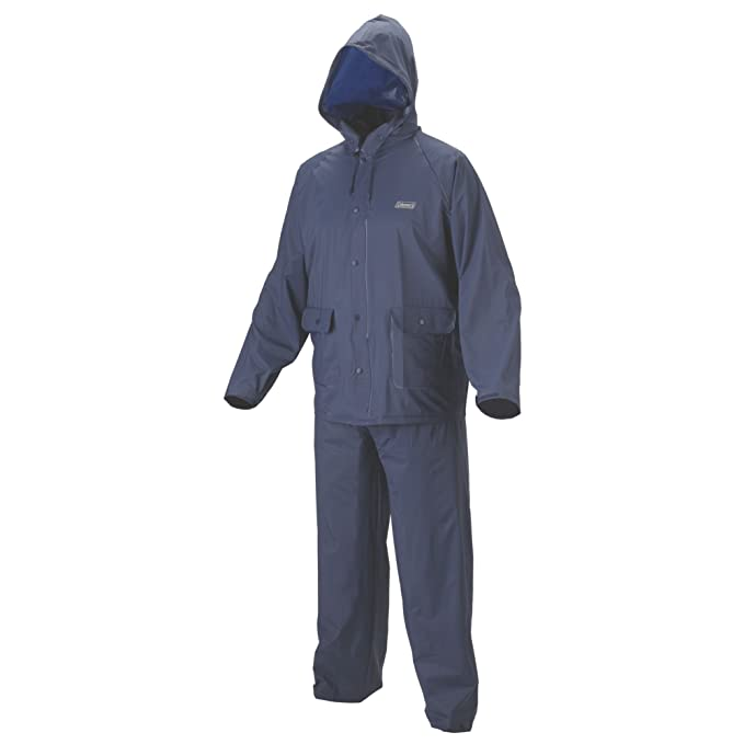 Amazon.com: Coleman traje impermeable de PVC Azul Adulto ...