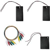WJUAN 3 Stks Batterij Houder Case Plastic Batterij Opbergdoos, 3 V AA Batterij Houder en 4.5 V AA Batterij Houder met…