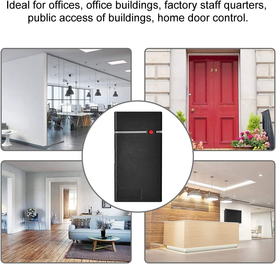 Sistema de Control de Acceso a la Puerta RFID ID Tarjeta Sensor,Impermeable Lector ID de Tarjetas Inteligentes para el Sistema de Seguridad de la Puerta de la Oficina en casa: Amazon.es: Bricolaje