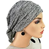 Hats for You Women's Two Way Chemo Cap, Salt and Paper, One Size