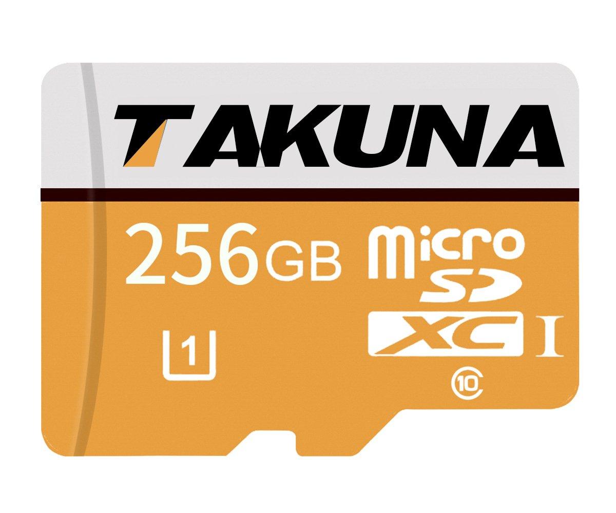 TAKUNA - Tarjeta de memoria Micro SD SDXC (256 GB, adaptador de tarjeta SD)