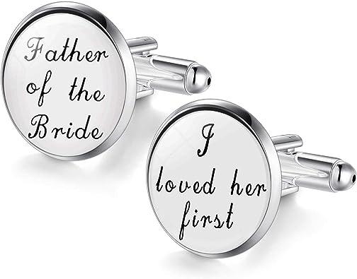 Custom Wedding Cufflink Father Of The Groom Cufflinks Custom Date /& Name Wedding Gifts Father Of The Bride Cuff Links Wedding Cufflink