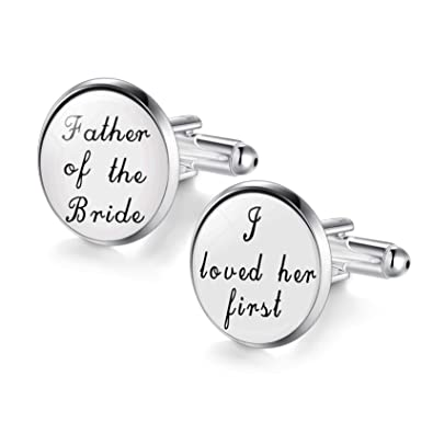 Buy Respect Father of the Bride Cufflinks Shiny Glass Gemstone