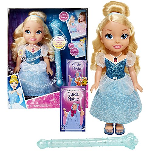 Jakks Pacific Year 2016 Disney Princess Series 14 Inch Electronic Doll - MAGICAL WAND CINDERELLA with Wand and