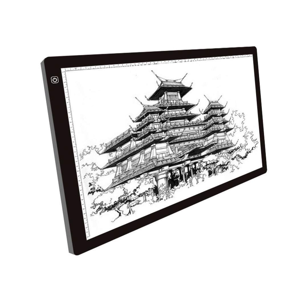 nueva gama alta exclusiva - Santonliso A3 Touch LED Copia a través través través de la Escritura de Película de Escritorio Translúcido Taiwán A4 Anime Caligrafía  Esperando por ti