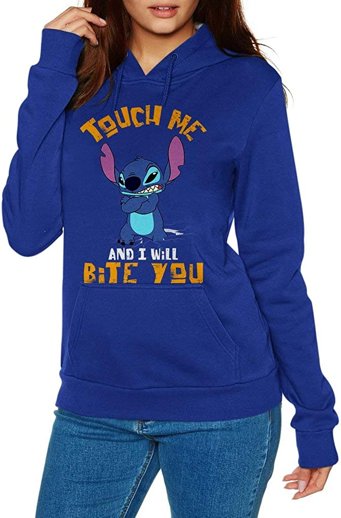 Funny Vintage Trending Awesome Gift Hoodie Stitch Touch Me and I Will Bite You