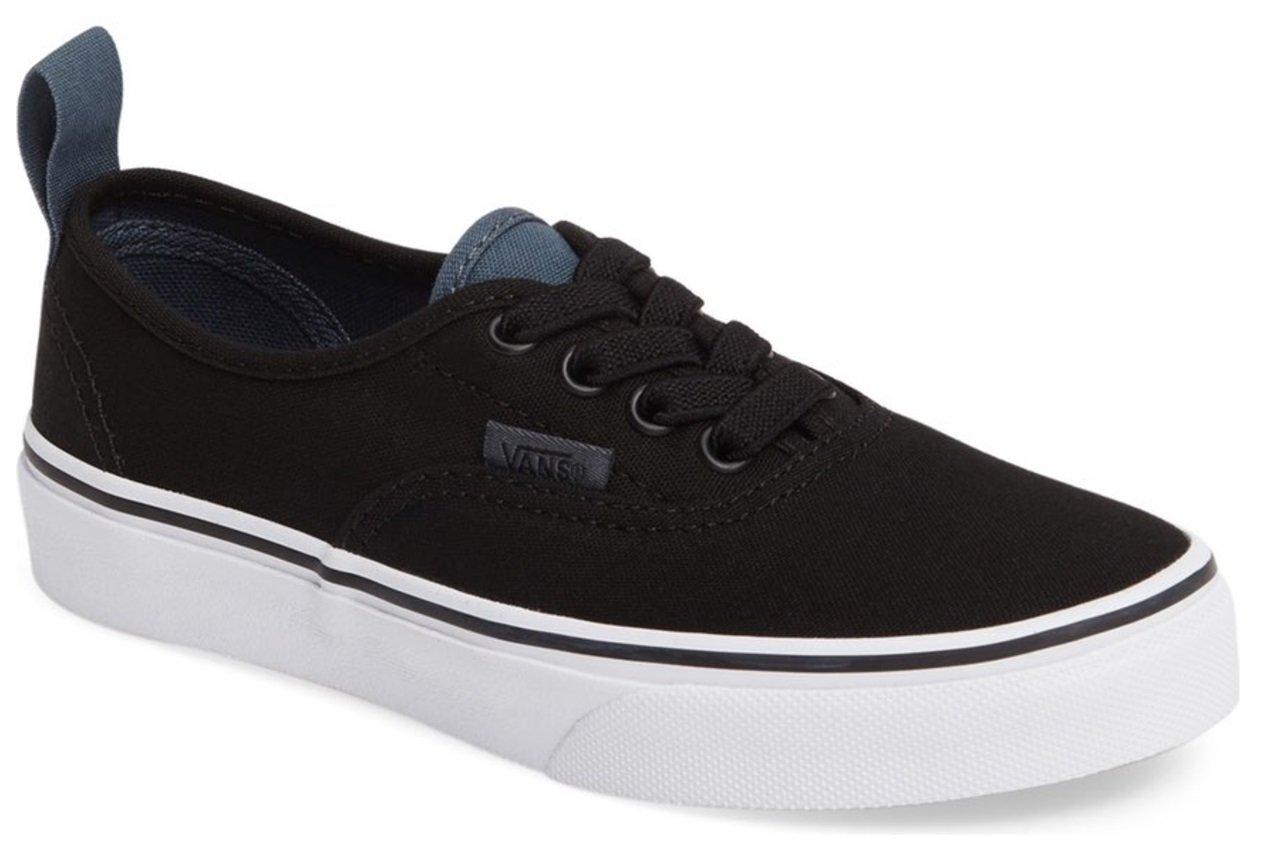 Vans  Authentic Elastic (Elastic Lace) Skate Shoe B01IC9PCS0 12 Little Kid M|Black/Dark Slate