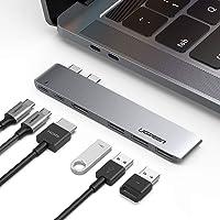 """UGREEN Hub USB C a HDMI 4K, 3 USB 3.0, Thunderbolt 3, USB Tipo C 3.1, Modelo Delgado, Adaptador Hub para MacBook Pro 2019 2018 2017 2016 15"""",13"""", Macbook Air 2019 2018"""