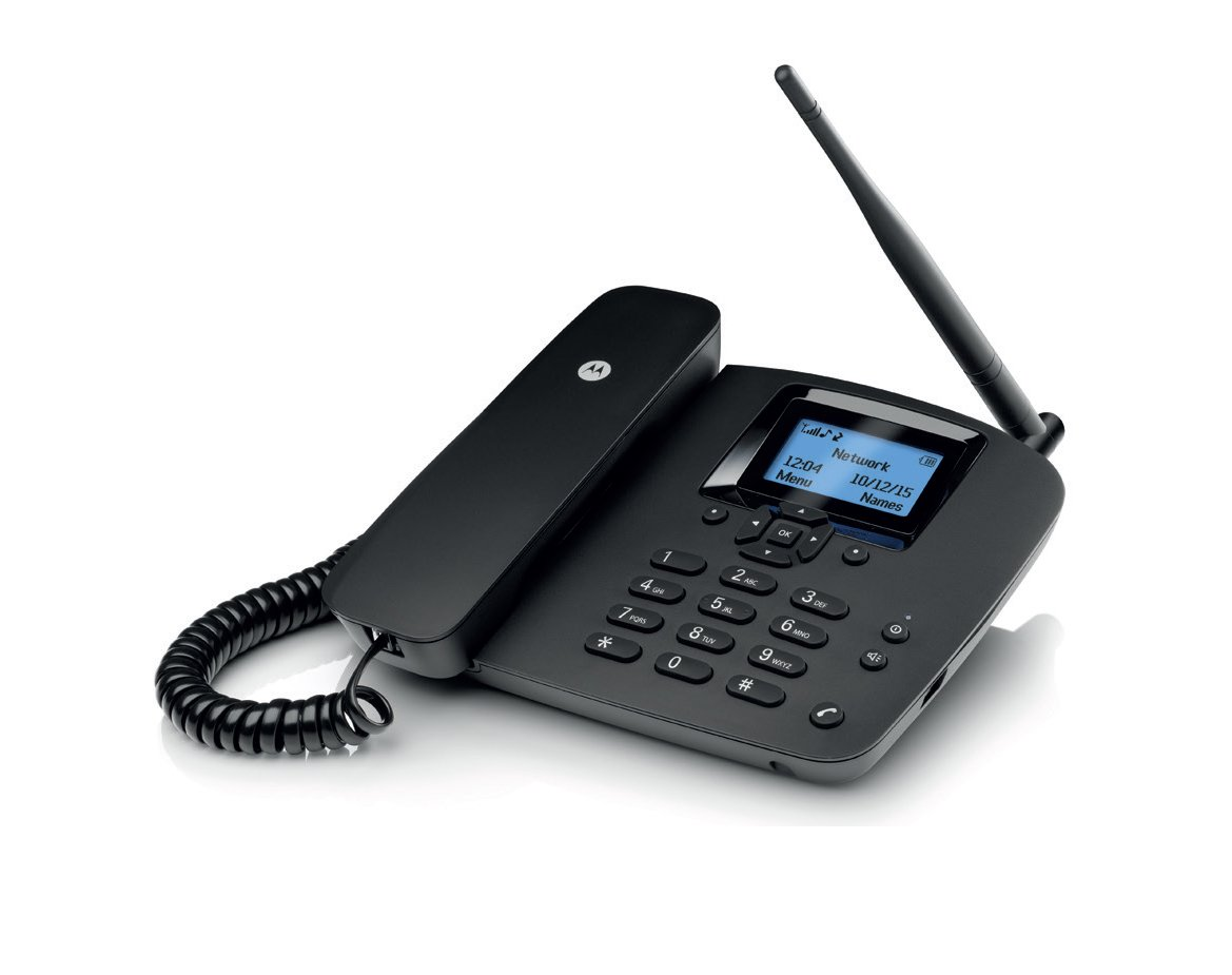 Motorola fixed wireless phone fw 200 l black