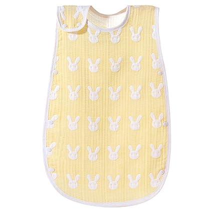 Sacos de dormir para bebé Sin mangas Gasa de verano Anti-Kick Edredón Sección delgada
