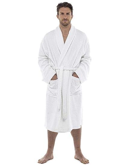 dbed6f10d71d2 CityComfort Hommes Serviette Robe 100% Coton Serviette en Éponge Peignoir  Robe De Robe De Bain