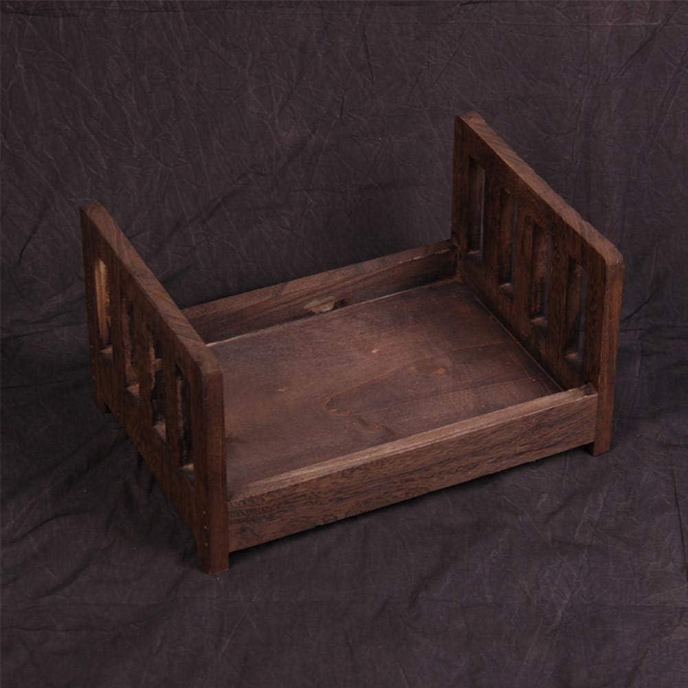 Holz posieren f/ür Fotoshooting posieren Babyfoto Kinderbett Blue-Yan Neugeborenen Fotografie Requisiten kleines Holzbett Neugeborenen Requisiten Bett