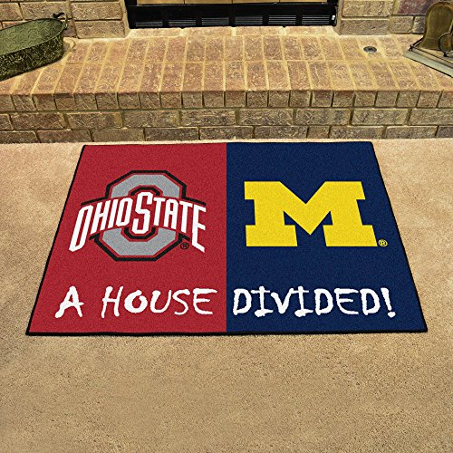 Fanmats Ohio State - Michigan House Divided Mat