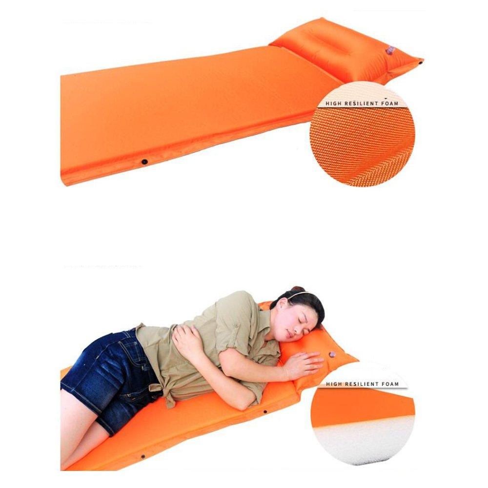 Sleeping pad Einzelnes Rollen-Matten-aufblasbare Selbstaufblasendes Kampierendes Rollen-Matten-aufblasbare Einzelnes Schlafenmatratze,C 7fc06b