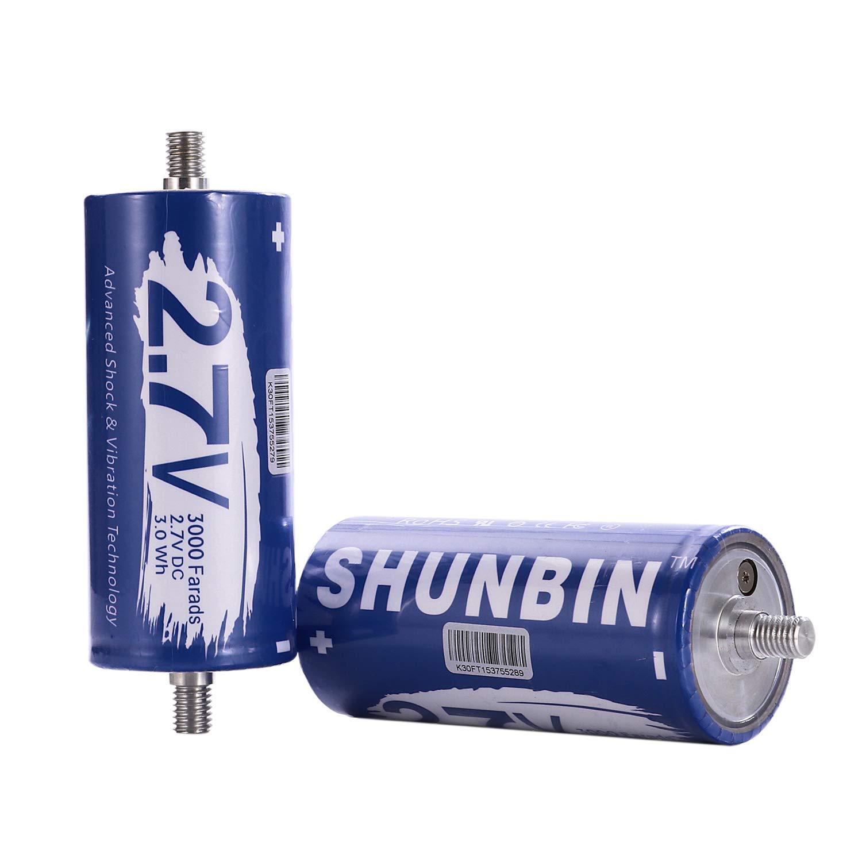 SHUNBIN Graphene Super Capacitor 2.7V 3000F Power Bank Solar Power System Audio Battery