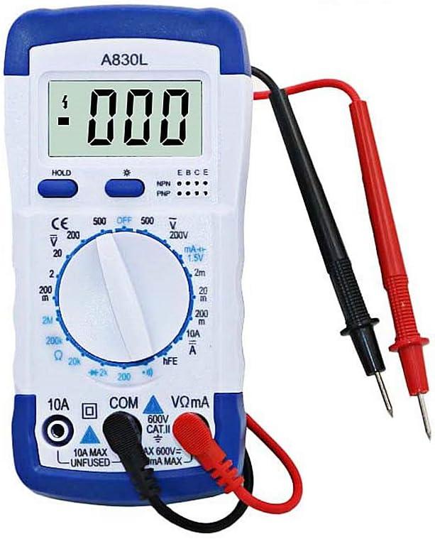 volt/ímetro voltaje diodo Mult/ímetro digital LCD comprobador de corriente amper/ímetro Qiulip A830L