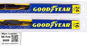 """Set of 2 24/"""" 17/"""" Fit For TOYOTA RAV4 2006-2012 All Season Front Wiper Blades"""