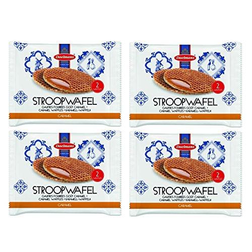 Stroopwafels Jumbo 78g 2 Pack - Caramel Wafers Waffles Biscuits Daelmans (Pack of 4)