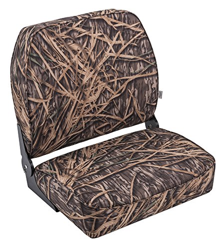 Wise Big Man Hunting/Fishing Fold Down Boat Seat, Mossy Oak Shadow Grass Camo