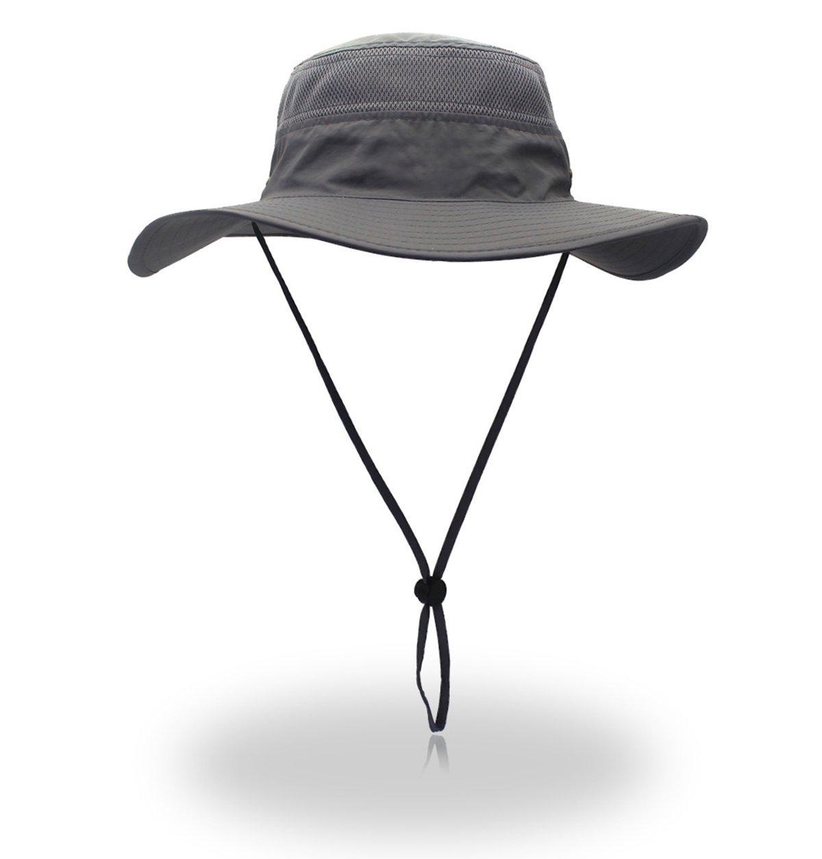 belababy Summer Sun Hat Outdoor Camping Fishing Cap, Light Gray