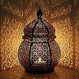 """Orientalische Eisenlaterne """"Teja""""- Indisches Windlicht - Mediterrane Orientlampe"""